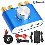 F900 Mini Bluetooth Power Amplifier Wireless Audio Receiver with Power Supply 12V 5A, Stereo Hi-Fi Digital Amp 2 Channel 50W 2 with AUX/USB/Bluetooth Input