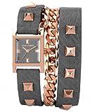 Vince Camuto VC/5088RGGY - Reloj de pulsera para mujer de acero inoxidable con correa envolvente de piel gris