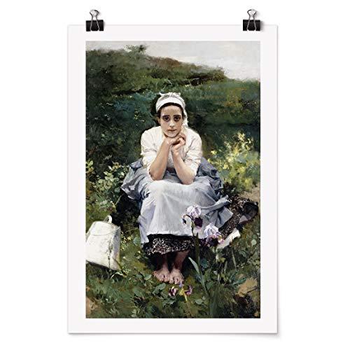 Bilderwelten Poster - Joaquin Sorolla - Das Milchmädchen - Selbstklebend seidenmatt 90 x 60cm
