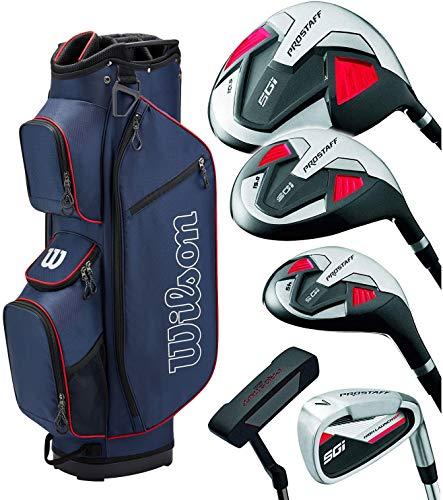 WILSON Pro Staff SGI Herren Golf Komplettset/Golfset, RH, Golfbag blau, insg. 13 Teile