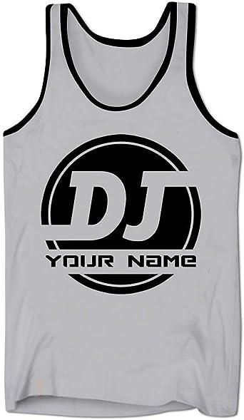 Bang Tidy Clothing Camiseta de Escote bajo Personalizada con Logo de DJ AÑADE TU Nombre para Hombre