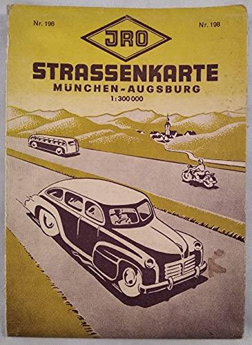 Strassenkarte München-Augsburg 1:300 000. Nr.198.
