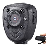 Mini Body Camera Body Cam Police Video Recorder 1080P Wearable Portable Small Security Cam with Night Vision Pocket Clip for Outdoor, Office, Law Enforcement, Security Guard, Home(32GB Memory Card)