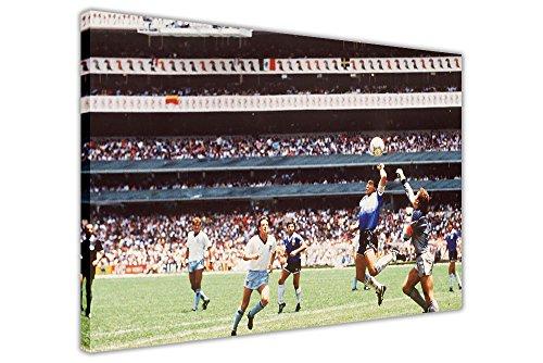 CANVAS IT UP Lienzo Decorativo para Pared con diseño de Maradona con Texto en inglés Hand of God Goal 1986