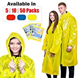 KeepDry! Extra Thick Disposable Emergency Rain Ponchos ~ Premium Quality, Lightweight, Waterproof & Tear Resistant ~ For Hiking, Tours, Sightseeing, Theme Parks, Festivals & More