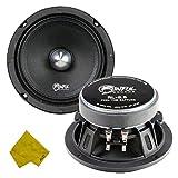 Sinful Sounds 6.5″ Pro Speaker – 200 Watt Max/ 100 Watt RMS, Midrange Car Audio Stereo Loudspeaker Component- 95DB Sensitivity, 4 Ohm Impedance