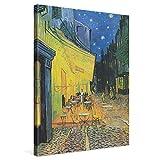 PICANOVA – Vincent Van Gogh Café Terrace at Night 60x80cm – Cuadro sobre Lienzo – Impresión En Lienzo Montado sobre Marco De Madera (2cm) – Disponible En Varios Tamaños