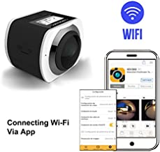 360 Angle Panoramic 16MP VR Camera 1440P/30fps Ultra HD DV Camcorder, WiFi Control by APP with 30M Waterproof Depth