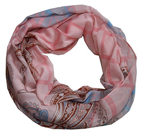 outlet-king - Sciarpa - Paisley - Donna rosee neu XX-Large