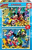 Educa Superpilotos Mickey And The Roadster Racers 2 Puzzles x 20 Piezas, multicolor (17631)