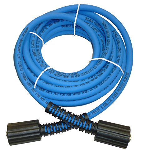 UBERFLEX Kink Resistant Pressure Washer Hose 1/4 x 25' 3,100 PSI with (2) 22MM