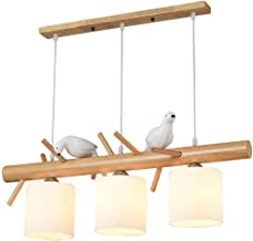 LED Chandelier 3-Lights Japanese Restaurant Chandelier Nordic Simple Wood Bar Small Bird Lamp - Home Lighting Fixture