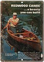 Redwood Canoe Boat ティンサイン ポスター ン サイン プレート ブリキ看板 ホーム バーために