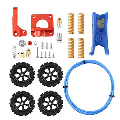 MK-8 Extruder Feeder Drive Kit mit PTFE Bowden Teflon-Schläuche Leveling Mutter für 3D-Drucker 1.75mm FilamentRepair oder DIY Handwerkzeuge Elektrowerkzeug-Zubehör pflegen