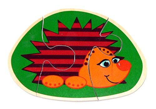 Hess 14911 Houten Igel Mini Puzzel Baby Speelgoed, Multi Kleur