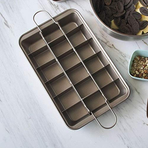 Best Quality - Square Lattice 18 Cavity Brownie Baking Pan Non-Stick Chocolate Cake Mold Carbon Steel Professional Bakeware Baking Tools - by JIM MARTINSZ