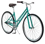 Critical Cycles Mixte 3-Speed City Coaster Commuter Bicycle, Turquoise, 55cm/Medium
