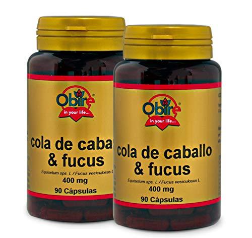 Obire Cola de caballo + fucus 400 mg - 90 capsulas, Pack 2 unidades