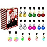 Christmas Beard Lights Ornaments,18Pcs Santa Beard Beads Bauble Ornaments Decorations for Tree,Great Christmas and New Year Festival Gift for Village Set Santa Claws Shirt Ugly Sweater Party Supplies