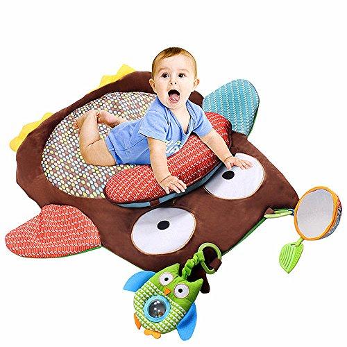 SLHP Baby Krabbeldecke Kinderspielteppich Spielmatte Cute Eule Baby matte Kissen Spielzeug Baby's gepolsterte Spielunterlage