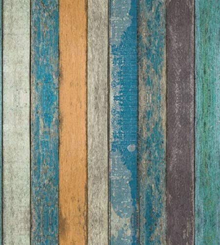 WANGDA G 17 71 X 393 7 Rustic Plank Wood Peel and Stick Wallpaper self Adhesive Removable Wallpaper product image