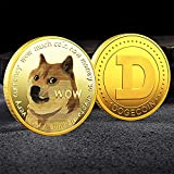 4 Pack Gold Dogecoins Commemorative Coins Set 2021 Limited Edition Doge Coins New Collectors Gold Plated Coin with Protective Case