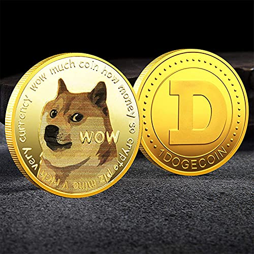 1oz Gold Dogecoin Commemorative Coin 2021 Limited Edition Doge Coin New Collectors Gold Plated Coin with Protective Case