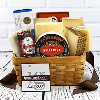 Gourmet Basket of Cheese (over 4 lbs)