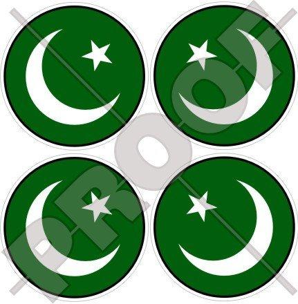 PAKISTAN Pakistani Islamabad 50mm (2 ) Vinyl Bumper-Helmet Stickers, Decals x4