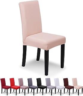 comprar comparacion SaintderG® Fundas para sillas Pack de 6 Fundas sillas Comedor, Duradera Modern Bouquet de la Boda, Hotel, Decor Restaurant...