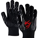 EvridWear 932°F Extreme Heat and Cut Resistant BBQ Gloves Oven Mitts, Non-slip Silicone