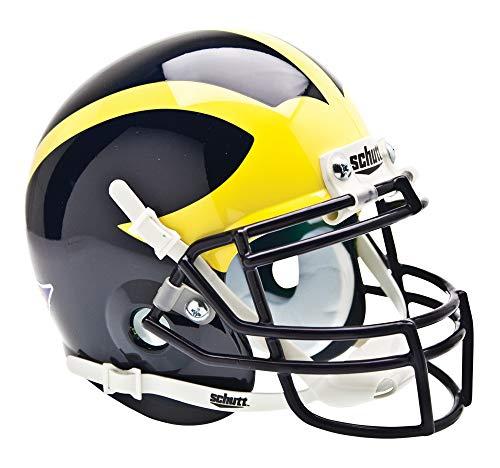 Schutt NCAA Michigan Wolverines Mini Authentic XP Football Helmet, Classic
