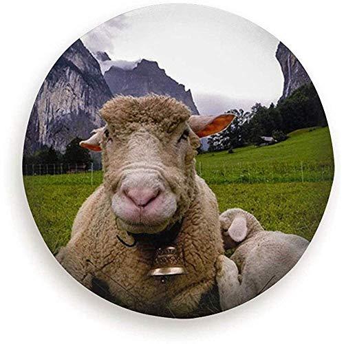 Y.Z.L. Auto-Reserveradabdeckung Schäferei Swiss Alp Animal Water Proof Universal-Reserveradabdeckung Passend Für Verschiedene Fahrzeuge 14-17IN