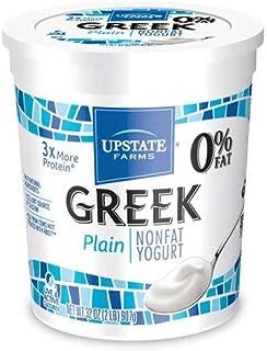 Upstate Farms Greek Nonfat Blended Plain Yogurt, 32 Ounce -- 6 per case.