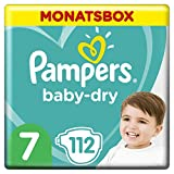 Pampers Baby-Dry Windeln, Gr. 7, 15kg+, Monatsbox (1 x 112 Windeln)