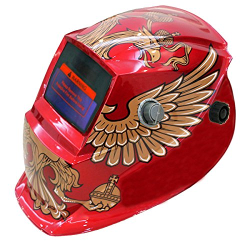 JEXONA Solar Power Auto Darkening Welding Helment 7017 Color Red and Birds