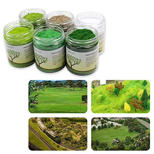 8pcs//box DIY Artificail Flower Clusters Grass Simulation Scenery Model Scenery
