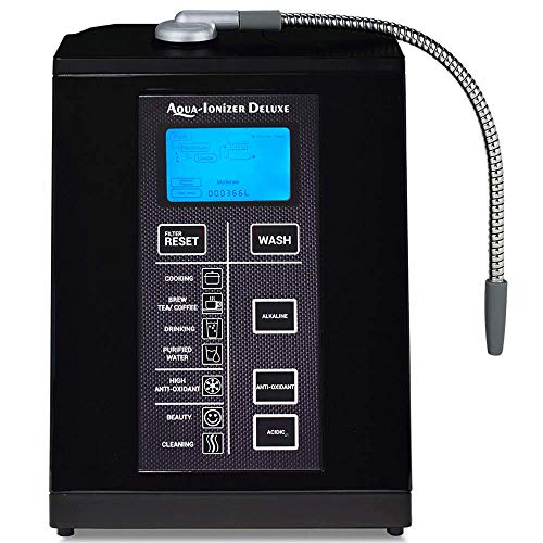 Aqua Ionizer Deluxe 9.5 Anti-Oxidant Boost Water Ionizer   Alkaline Water Filtration System   Produces pH 3.0-11.5 Alkaline Water   Up to -880mV ORP   4000 Liters Per Filter   7 Water Settings