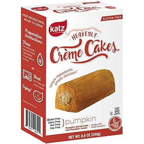 Katz Gluten Free Pumpkin Spice Crème Cakes | Dairy Free, Nut Free, Soy Free, Gluten Free | Kosher (1 Pack of 6 Crème Cakes, 8.8 Ounce)