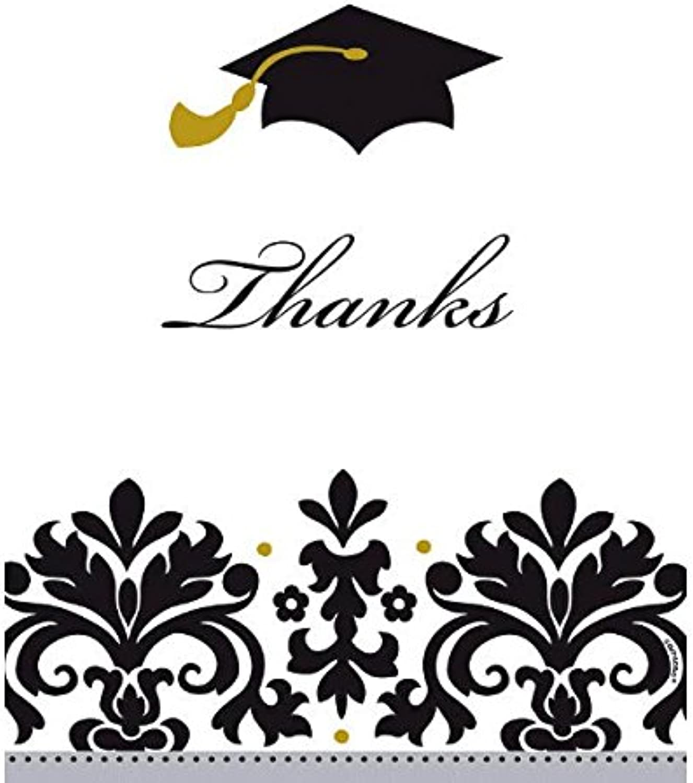 Amscan Graduation Party Thank You Postcards (Pack of 50), schwarz Weiß, 5 5 8 x 4 3 8 B01FOIXXYM Elegant   Günstige Preise