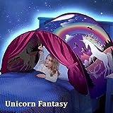 PUDDINGT Dream Bed Zelte für Kinder, Faltbares Zauberspielzelt, Pop Up Bettzelt Fee Spielhaus...