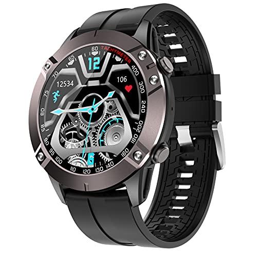 FMSBSC Smartwatch Reloj para Hombre con Llamada Bluetooth Pulsómetros Monitor De Sueño Música Bluetooth Presión Arterial, Pulsera Actividad Inteligente con 7 Modos Deportivos,Negro