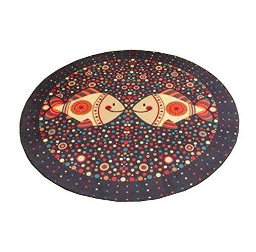 Oficina (Home) Chair Mat - Protección del piso de la alfombra - 80 CM Round Yoga Floor Mat, E