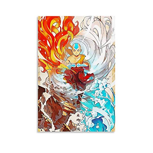 Póster de Avatar La leyenda de Aang y arte de pared, impresión moderna, para decoración de dormitorio familiar, 20 x 30 cm