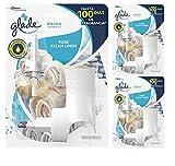 Glade - Ambientador Eléctrico Líquido con Aceites Esenciales, Aroma Frescor de Ropa, hasta 100 Días, Difusor + Recambio [Pack de 3]