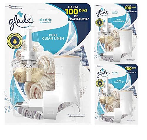 Glade - Ambientador Eléctrico Líquido con Aceites Esenciales, Aroma Frescor de Ropa, hasta 100 Días, Difusor + Recambio
