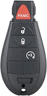 Aupoko GQ4-53T 4 Buttons Keyless Entry Remote Key Fob, Replace# 56046955,56046955AG, 56046955AA, 56046955AB, Fits for 2013-2018 Dodge Ram 1500 2500 3500