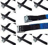 iapyx Befestigungsriemen-Set ideal zur Befestigung am Fahrradträger, Klemschloss Gurte, Spanngurte (10er Set, schwarz)