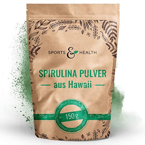 Spirulina Hawaii Pulver 150g - 3g Pro Tagesdosierung Hawaiian Spirulina - 100% Natürlich Und Reines Spirulina Pulver aus Hawaii - Abgefüllt In Deutschland - Mit Extra Dosierlöffel