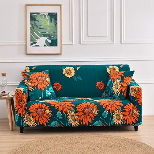 Funda de sofá elástica elástica, Toalla de sofá de algodón Puro, Funda de sofá Antideslizante y a Prueba de Polvo para Sala de Estar A17 1 Plaza